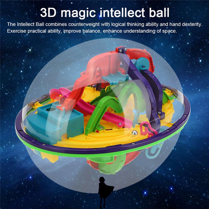 3D Magic Maze Ball toys Intellect Ball Rolling Ball Puzzle kid Game Brain Teaser Children Learning Educational Toys Orbit Game
