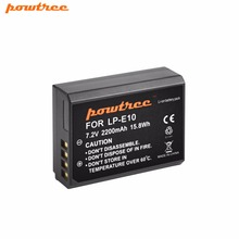 Powtree для Canon 1×7,4 V 2200 mAh LP-E10 Перезаряжаемые литиевых Батарея Замена LP E10 LPE10 EOS Rebel T3 T5 T6 1100D 4000D