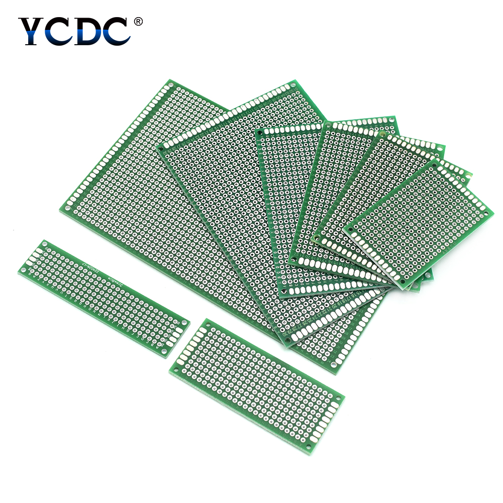 5Pcs PCB Printed Circuit Board Universal Proto Breadboard Double-sided Tinned Breadboard For DIY Projects