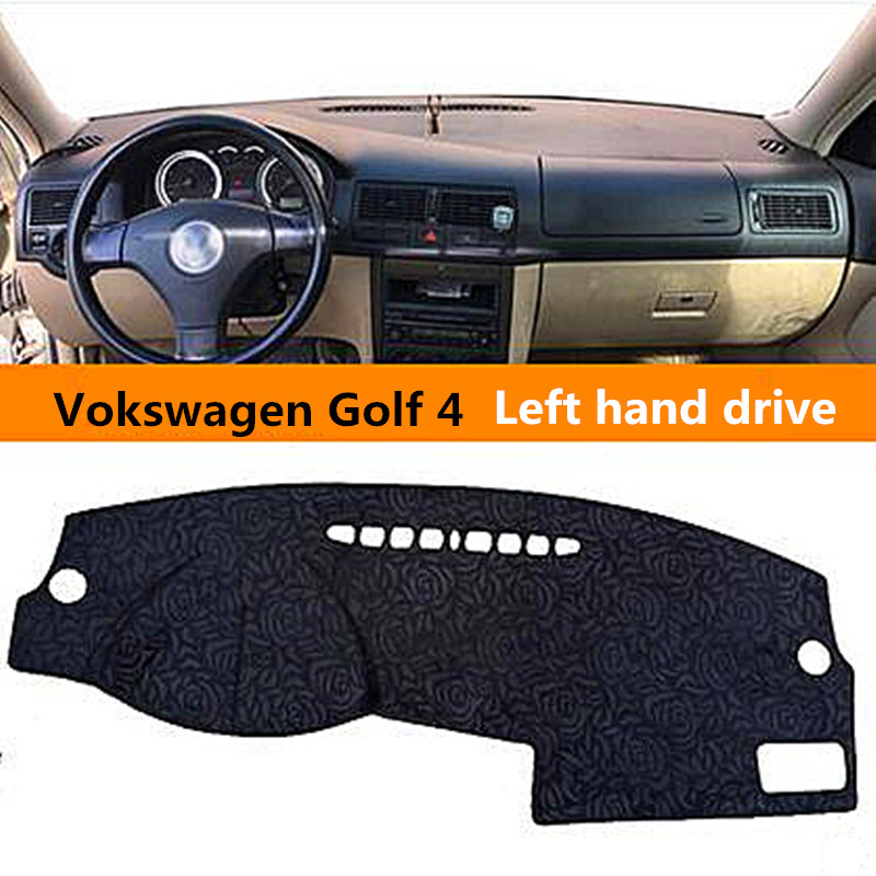 Delicate style Car dashboard cover for Volkswagen Golf 4 Left hand drive Auto dashboard Mat for Volkswagen Golf 4 3colors