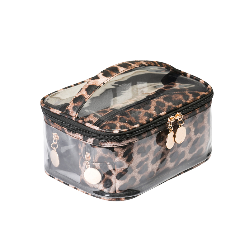 Ladies Leopard PVC Cosmetic Bag Travel Waterproof Beauty Makeup Toiletry Storage Case Lipsticks Holder Organizer Accessories