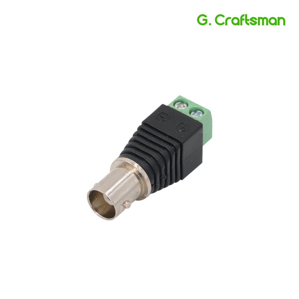 BNC Female Connector Plug DC Adapter Balun Connector For CCTV Camera Security System Surveillance Accessorie B17 G.Ccraftsman