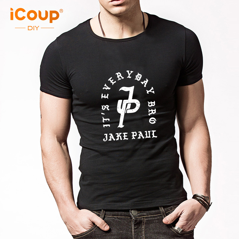 2017 iCoup Mens Jake Paul JP Short Sleeves print T-shirt Cotton