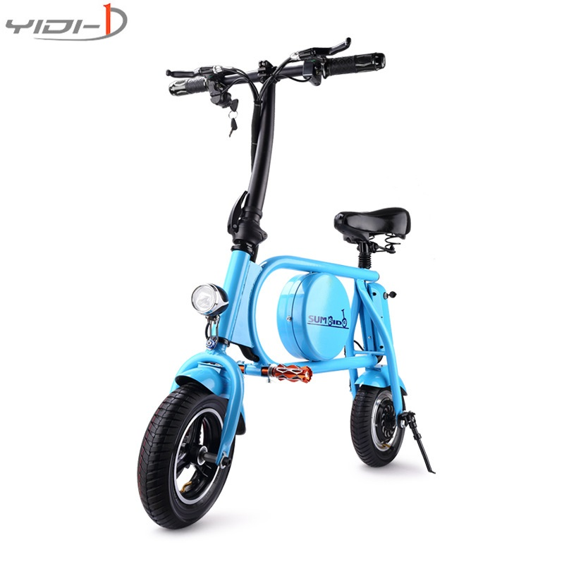 все цены на Mini 10 - inch electric bicycle folding generation driving adult two-wheel lithium battery scooter vehicle waterproof