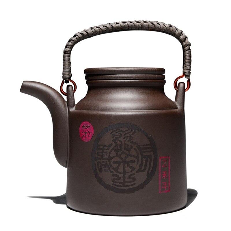 720ML yixing teapot zisha tea pto purple clay kettle with filter kung fu large capacity drinkware720ML yixing teapot zisha tea pto purple clay kettle with filter kung fu large capacity drinkware