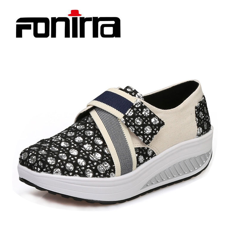 Transpirable Zapatos casuales Mujeres Shape Ups Shake Rocker Shoes - Zapatos de mujer