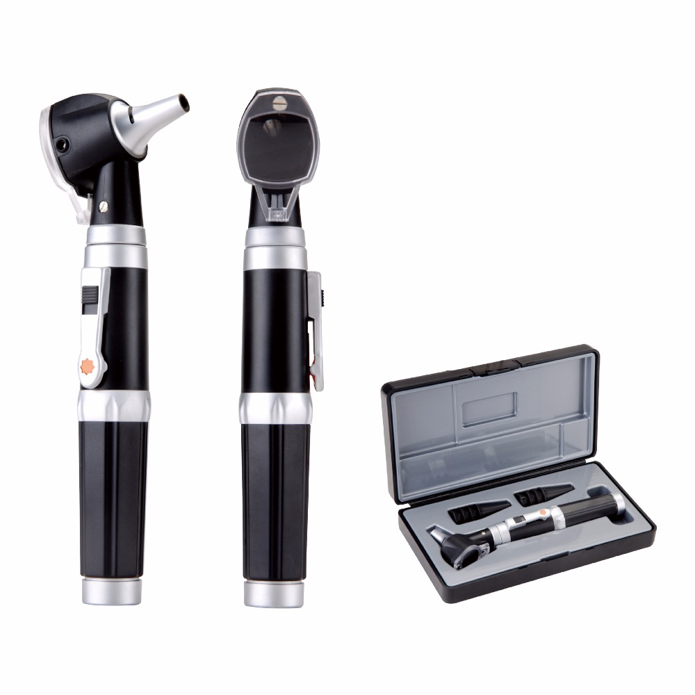 Medical LED Otoscope 3X Magnification Portable Diagnostic Kit Ear Cleaning Endoscope HD Visual Ear Spoon Ear Health Care 30 otoscope ophthalmoscope stomatoscop medical ear care diagnostic instruments 1set