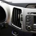 6 pcs Kit Fit para Kia Sportage R 2011 2012 2013 2014 2015 Estilo Do Carro Tomada De Decoração ABS Cromados Auto acessórios