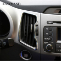 6pcs Kit Fit for Kia Sportage R 2011 2012 2013 2014 2015 Car Styling Outlet Decorative ABS Chrome Trim Auto Accessories