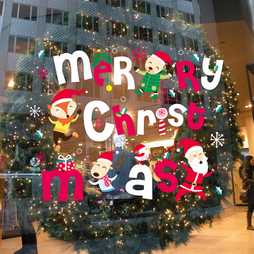 Merry christmas decoration new year christmas sale wall for New home christmas decoration