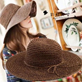 Nuevo verano sombrero de paja Sombrero para el Sol Sombreros de Playa para mujeres niñas arco de flores femeninas, kentucky derby sombreros