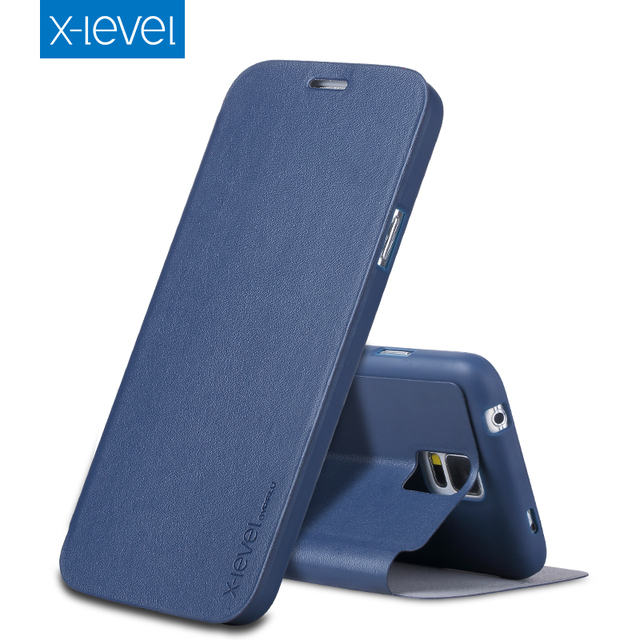 new product 73f2a f2967 US $12.65 |X Level Luxury Business PU Leather Case for Samsung Galaxy S5  Flip Cover for Samsung S5 SV G900F G900I Ultra thin Stand Cases-in Flip  Cases ...