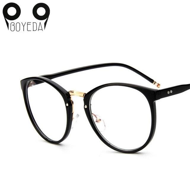 a8ec3d74124f4 BOYEDA Marca Rodada Do Vintage Óculos de Armação Nova Moda Feminina Óculos  De Grau para Mulheres