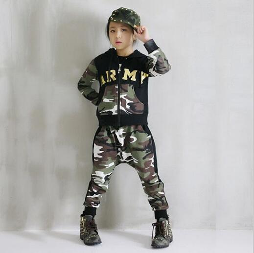Children Clothing Set Kids Tracksuit Sports Suit Boy/Girls Fashion Camouflage Hoodies + Harem Pants Kids Hip Hop Clothes spring children sports suit tracksuit for girls kids clothes sports suit boy children clothing set casual kids tracksuit set 596 page 3