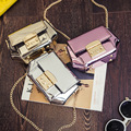 Woemn`s Fashion Handbag Patent Leather Shoulder Bags Messenger Crossbody Shell Bags Mini Lock Casual Female Famous Brand Pink