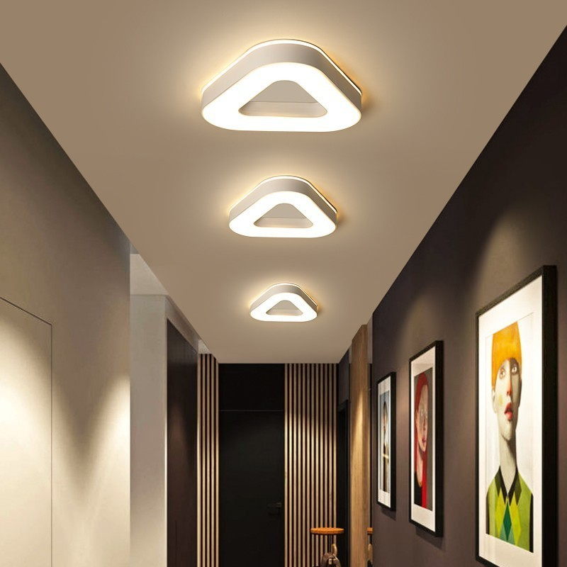 New Design LED Ceiling Light Corridor Art Gallery Decoration Front Balcony Lamp Porch White Black Lamparas De Techo Plafondlamp