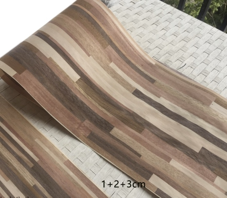 2.5Meters Width:42cm  Thickness:0.25mm High Grade Integrated Wood Veneer Splicing Process