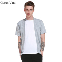 New Arrive Pure Cardigan Tshirt Men S Short Sleeved T Shirt Casual Fashion Trend Style Tshirt