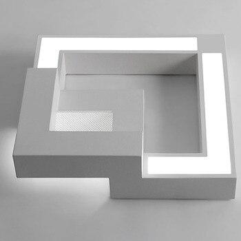 Kısılabilir led tavan ışıkları uzaktan kumanda ile, Modern tavan lambası demir yüzeye monte aydınlatma armatürleri Siyah/Beyaz AC220V