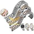 Envío de La Venta Caliente de Plata Inoxidable de correas de Reloj 19mm 20mm 22mm Reloj de Correa de La Banda de acero Extremo Curvo Para Mujeres de Los Hombres de la Serie