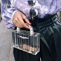 Transparent totes bag Clear acrylic PVC plastic box bag Dubai women girl vintage retro evening party handbag 2019 new summer bag