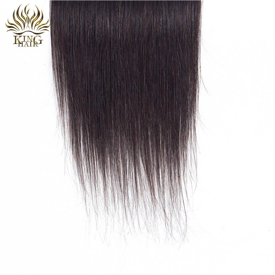 Cheveux russes Brésiliens Fermeture en dentelle droite Fermeture de - Cheveux humains (noir) - Photo 6