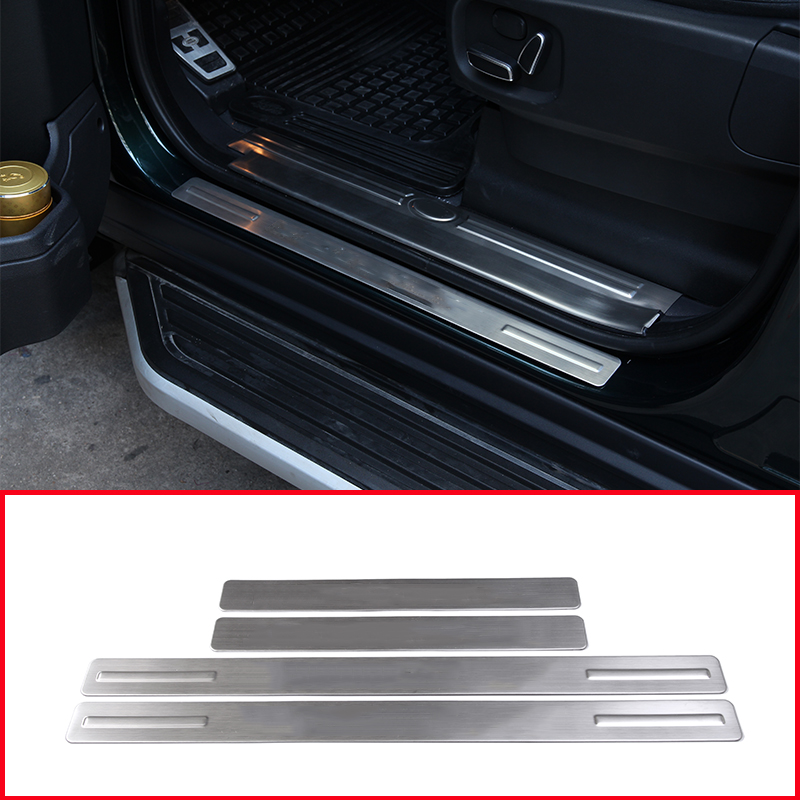 4pcs 304 Stainless Steel Outside Door Sill Scuff Plates Cover Trim Parts For Land rover Discovery 4 LR4 2010-2016 Car-Styling for land rover range rover sport stainless inside door sill scuff plate 2014 2017 4pcs silver black