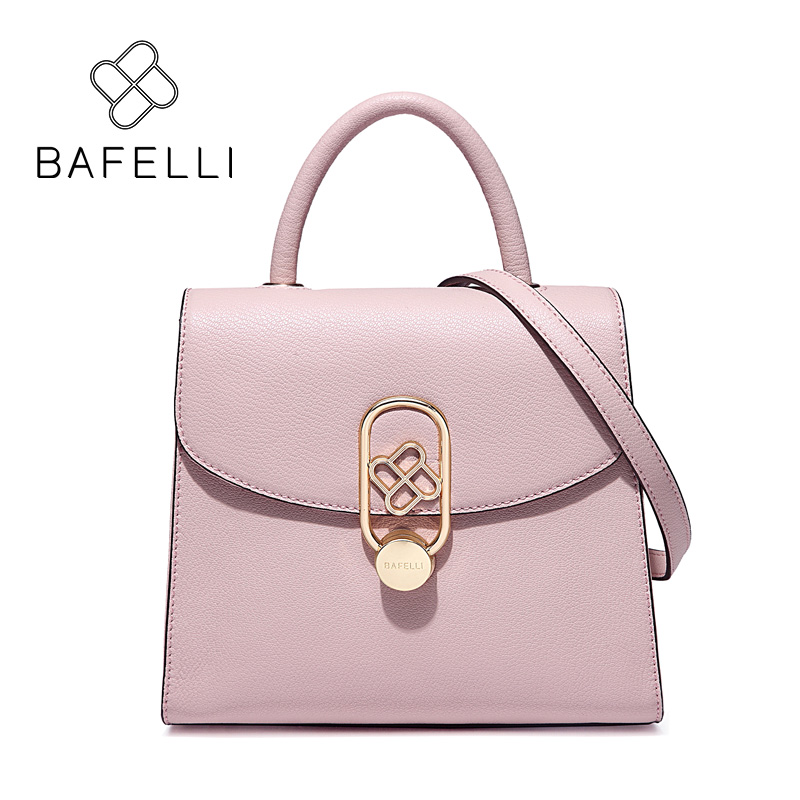 BAFELLI split leather box shoulder bag hasp crossbody bags oval buckle flap luxury handbags women bags designer bolsa mujer qweek luxury handbags women bags designer 2017 pu leather shoulder bag female printing bolsa feminina mini flap crossbody bags