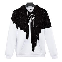 Hoodies Men/Women Fashion Autumn 3D Printed Star Paint Bucket Galaxy Long Sleeve High Quality Pullover Sportswear Creative Coat 3