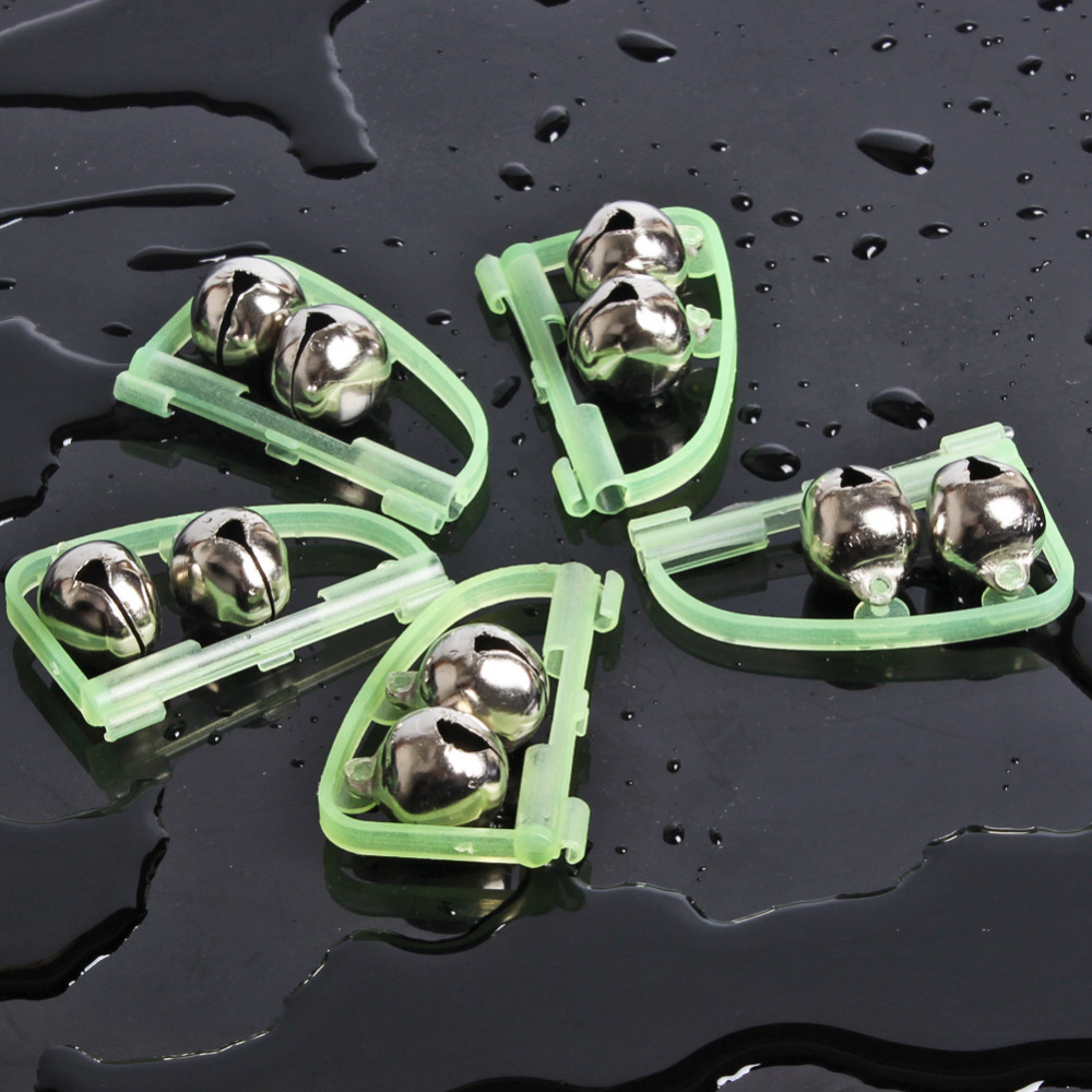 Sougayilang 10pcs/lot Luminous Fishing Bell Carp Fishing Alarm Clip Alerter Fish Bite Alarm for Fishing Rod Accessories Tool