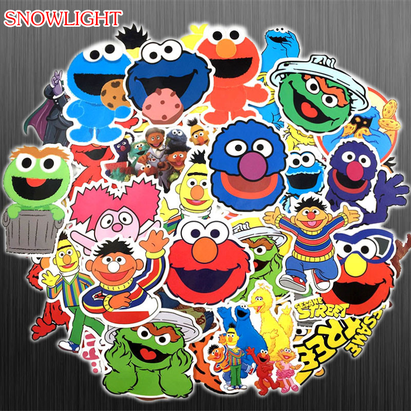 51 Pcs American Animation Sesame Street Cartoon Sticker For Bike Motorcycle Phone Laptop Luggage Funny Sticker Bomb Decals