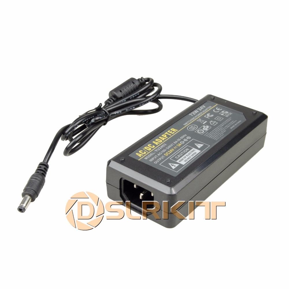 DSLRKIT 24 V 3A 72 W Alimentation Adaptateur AC 100-240 V à DC 5.5mm x 2.5mm/5.5mm x 2.1mm