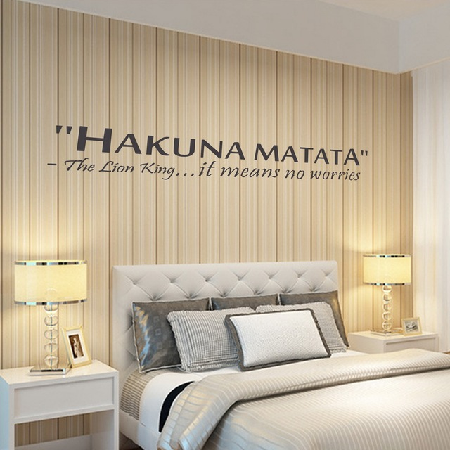 2015 New Wall Sticker Waterproof Removable PVS Vinyl Art Decor Home  Decoration Hakuna Matata The Lion