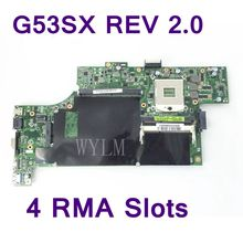 G53SX с 4 ram-гнёзда DDR3 Материнская плата Asus G53SX G53SW VX7 подходит для NVIDIA GTX460M 560 M материнская плата ноутбука Тесты Бесплатная доставка