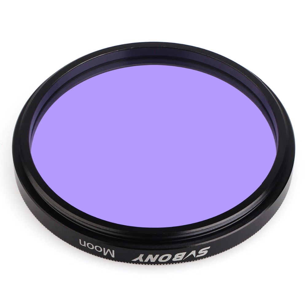 SVBONY 2 Filter Telescope Astronomy Eyepiece Moon Filter for Observation Moon/ Planets Astronomy Binoculars Telescope F9114 svbony 2 inch telescope eyepiece extension tube camera mount adapter 2 to t adapter for astronomy photography w2155