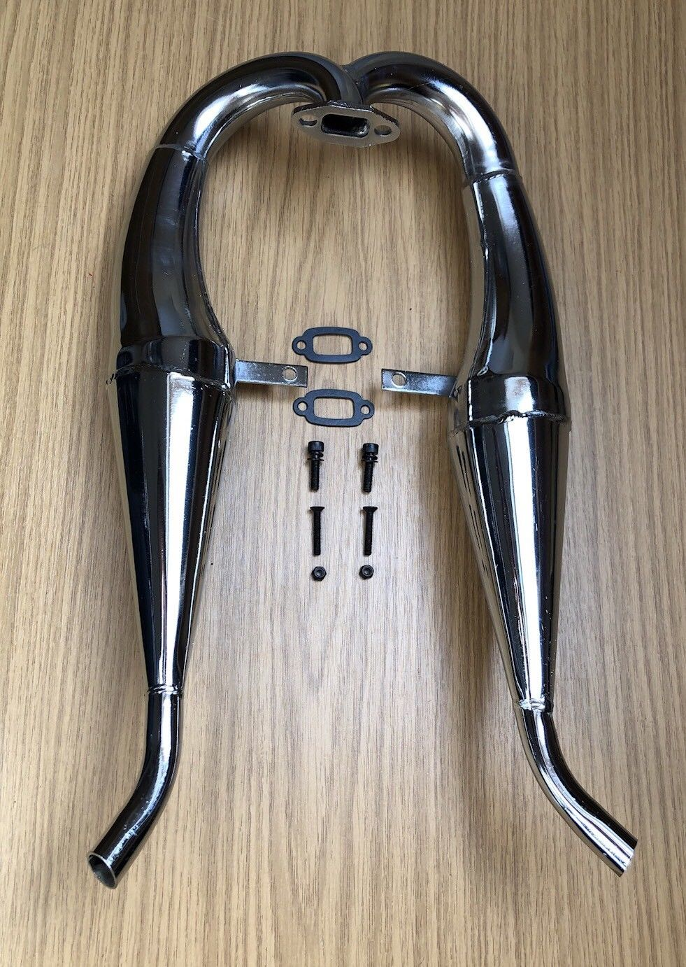 HPI BAJA ALLOY TWIN EXHAUST TUNED PIPE FOR HPI BAJA 5B 2 0 3 0 SS