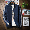 Men Jacket Bomber Thin Slim Long Sleeve Two Plaid Spring Autumn Vintage Male baseball Jackets 2017 Korean Style  Brand Clothing