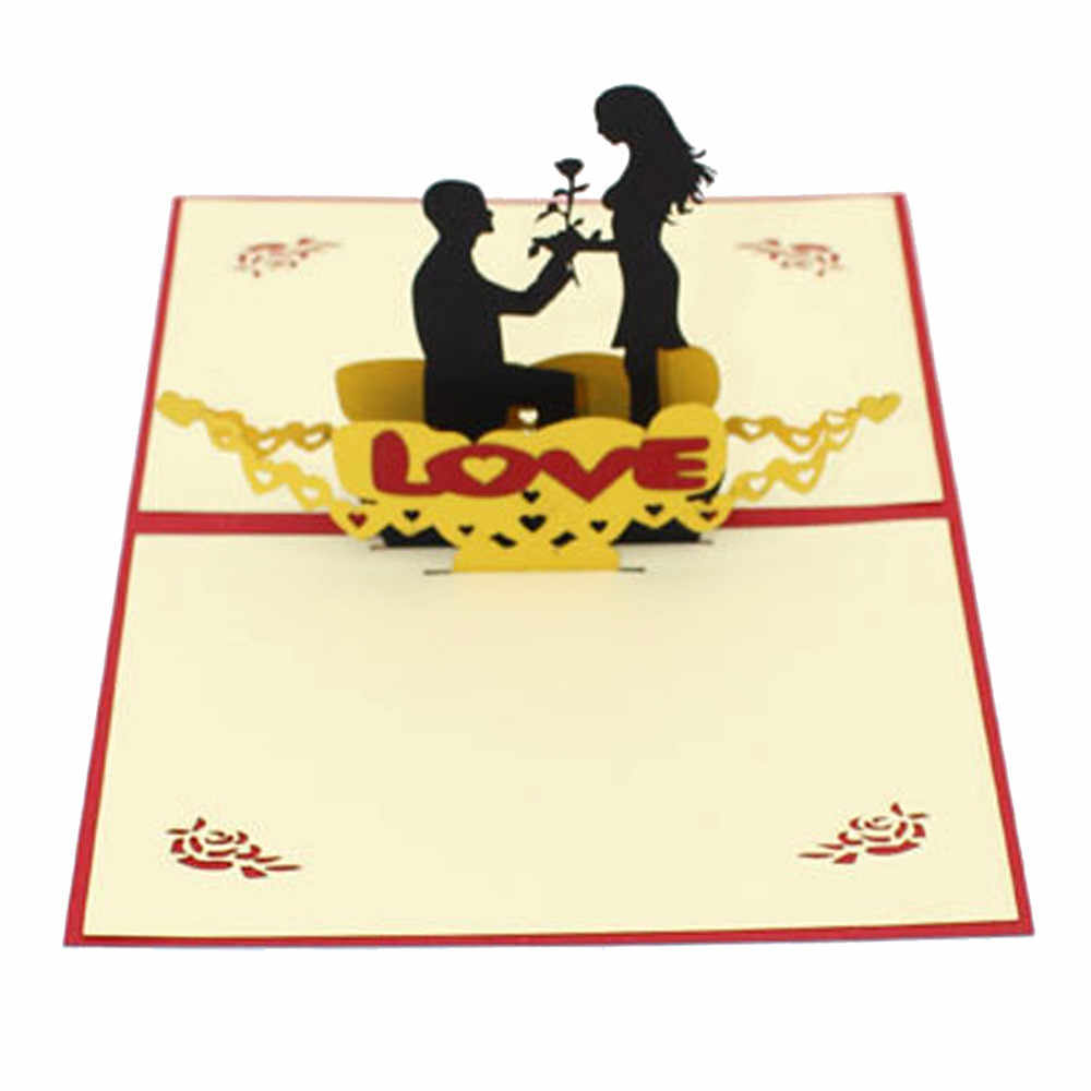 Segnaposto Matrimonio Aliexpress.Vogue 3d Pop Up Wedding Cards Valentine Lover Happy Birthday