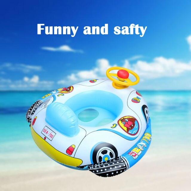 1X Swimmig Piscine Jouet Pour Enfants Accessoires De Bain Siège Flotteur  bébé Float Seat Bateau Gonflable