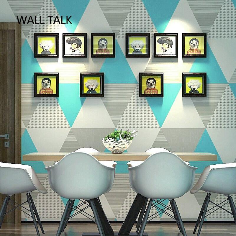 Moderne géométrique nordique Ins vent papier peint pour chambre étude salon TV fond Non-tissé papier peint rouleau décor à la maison