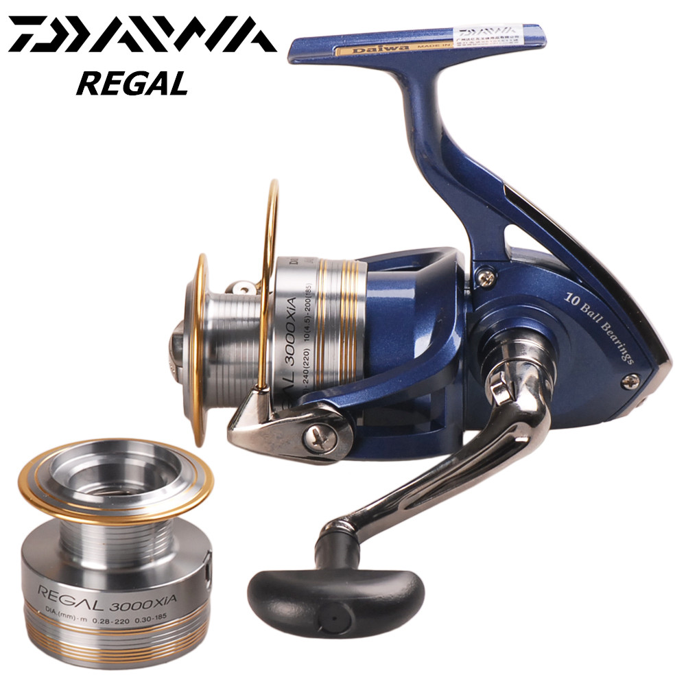 Original DAIWA REGAL 2000/2500/3000/4000XIA <font><b>5.3:1</b></font>/11BB Spinning Fishing <font><b>Reel</b></font> Two Metal Spool Saltwater Lure <font><b>Reels</b></font> Moulinet Peche image