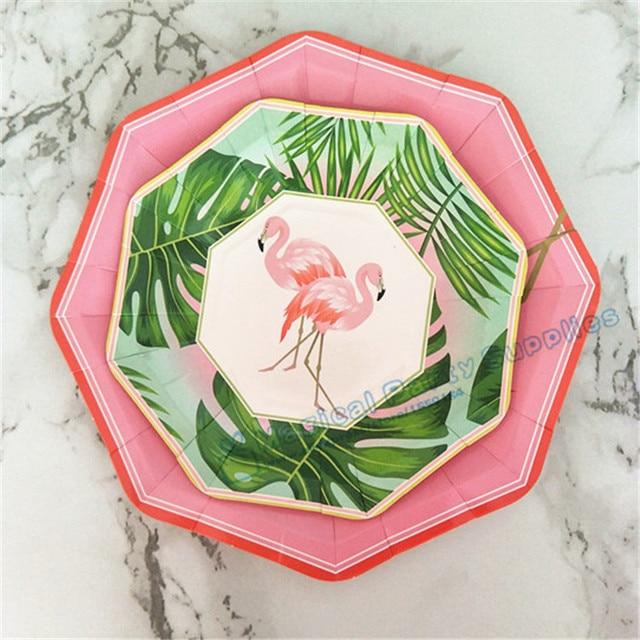 80pcs Island Oasis Flamingo Dessert Plates Small 7inch Large 9inch Paper Plates Luau Tropical Hawaiian Party & 80pcs Island Oasis Flamingo Dessert Plates Small 7inch Large 9inch ...