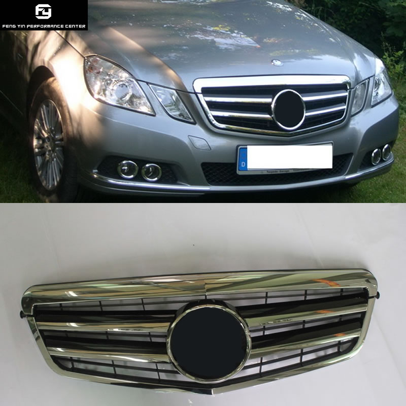 Racing <font><b>Grills</b></font> <font><b>W212</b></font> E63 AMG ABS Front Bumper Grille Car Mesh For <font><b>Mercedes</b></font> Benz <font><b>W212</b></font> E200 E260 E300 E63 10-13 image