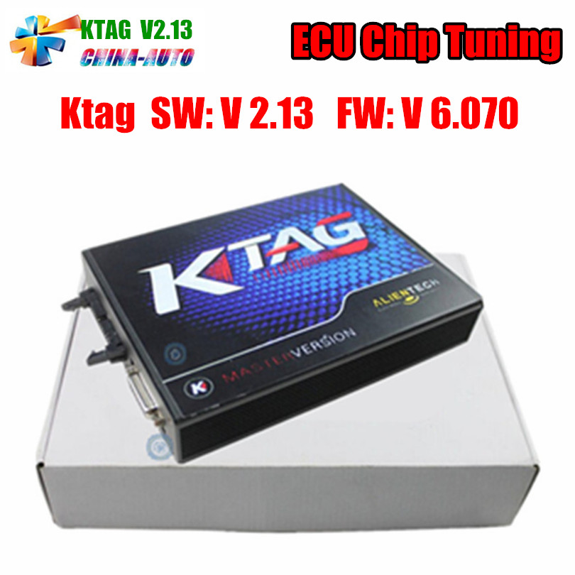 Newest KTAG V2.13 Unlimited Version High Quality K TAG Master ECU Programming Tool K-TAG Hardware V6.070 with Free Shipping 2016 top selling v2 13 ktag k tag ecu programming tool master version hardware v6 070 k tag unlimited tokens