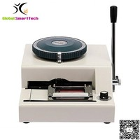 Manual PVC name id card embossing machine printer JX 68C