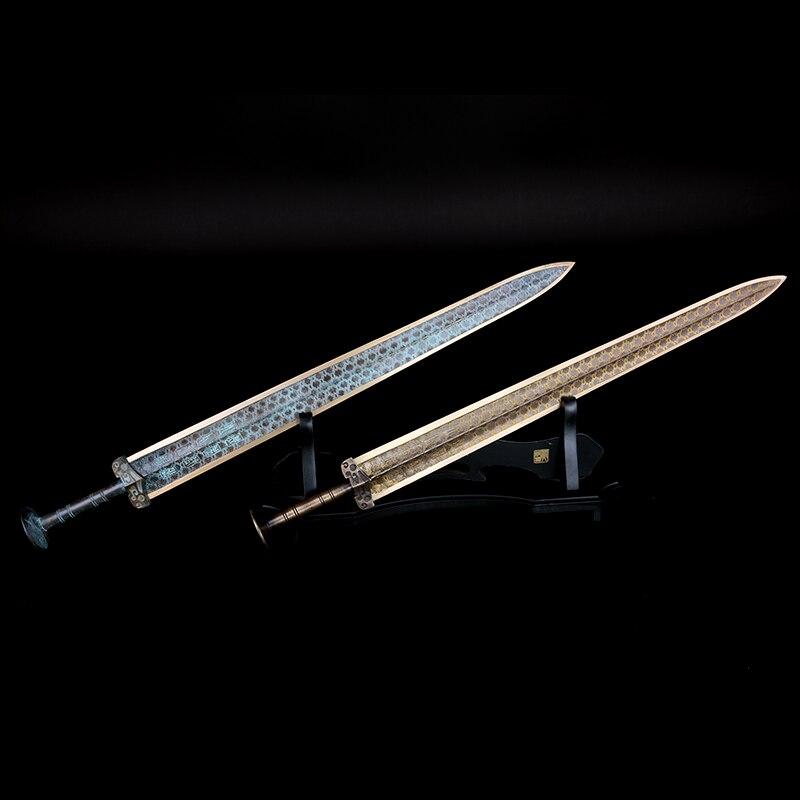 Épée de Goujian empereur Chinois Sabre artisanat Exquis de haute qualité longueur 55 cm Cuivre matériel décor à la maison