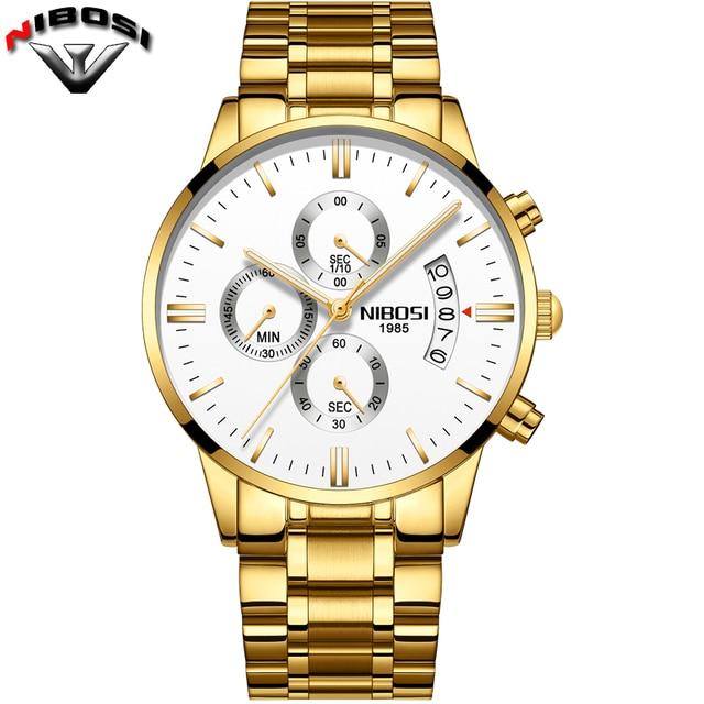 Nibosi Luxury Stainless Steel Waterproof Men Quartz Watches 2