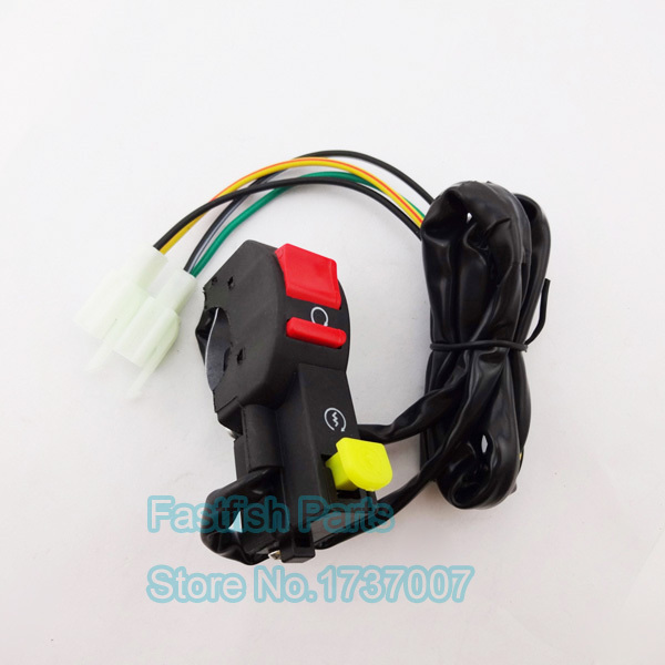 Universal Kill Starter Start Switch 4 font b Wires b font For 50cc 250cc Electric Start popular scooter wiring buy cheap scooter wiring lots from china,Scooter Kill Switch Wiring