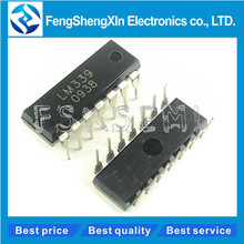 цена на 10pcs/lot New LM339 LM339N DIP-14 Low-Power Low-Offset Voltage Quad Comparators IC  free shiping