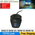 Estacionamento rear view camera SONY CCD noite cor car inverter câmera de segurança sistema de vídeo com linhas de estacionamento para BMWX1 X3 X5 X6